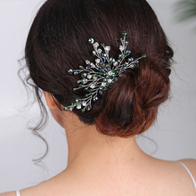 New Fashion Wedding Green Hair comb Crystal Headpieces Banquet for women chic wedding