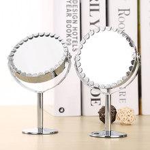 Espejo portátil giratorio de doble cara para mujer, espejos para maquillaje con aumento, mesa de escritorio, aparador cosmético de pie, Belleza
