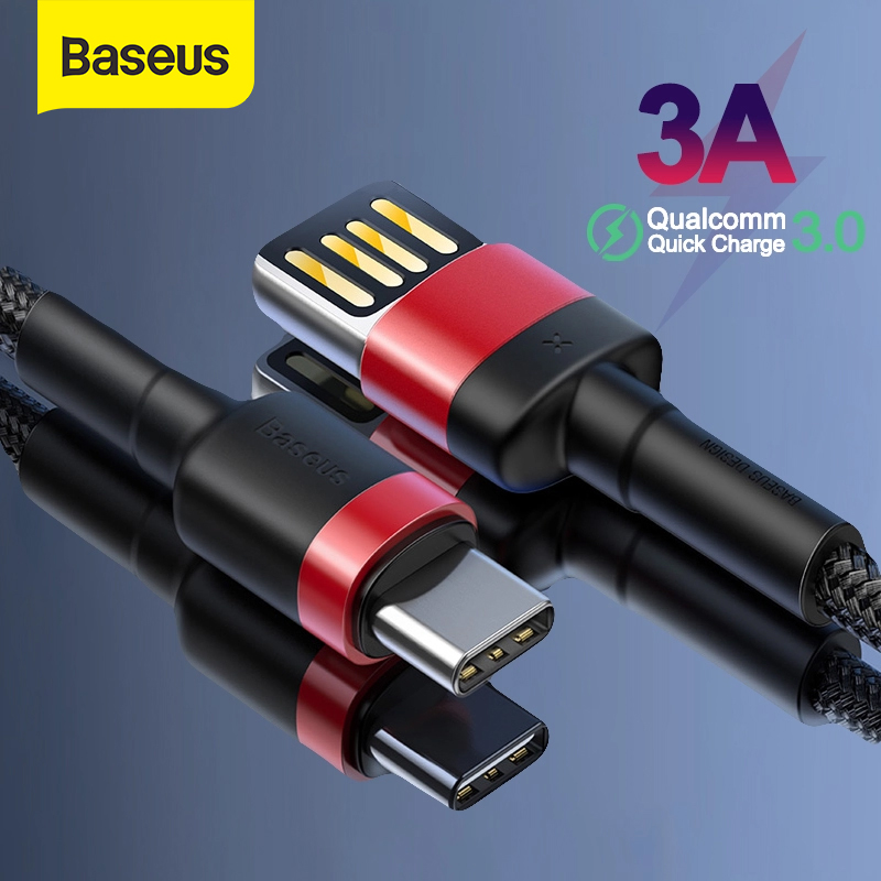 Baseus USB Type C Cable Forhuawei Mate30 20 Quick Charge 3.0 USB C Cable For Samsung S10 S9 Fast Charging Type C USB Date Wire