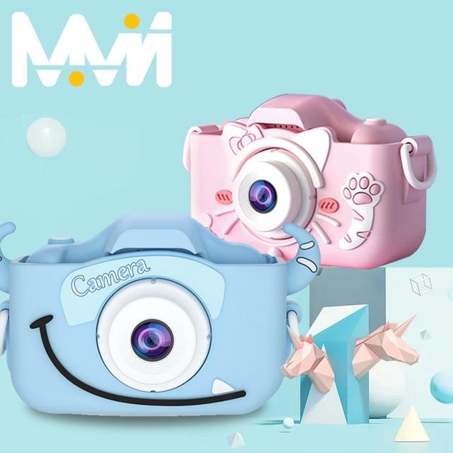 Children's Camera Cute Toy Cat Mini Digital Camera IPS Screen Education Toys For Kids HD Camera for Children Birthday Gift