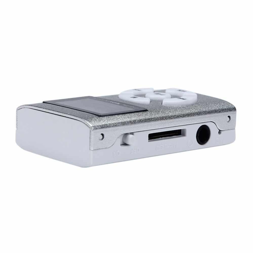 Hifi USB мини MP3 музыкальный плеер ЖК-экран Поддержка 32 ГБ Micro SD TF карта спортивная мода 2019 новый стиль Rechargeab #0916