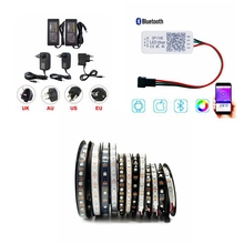 5m WS2812 30/60Leds/m Strip Lighting Addressable Pixel Tape With 5V Led Power Supply And SP110E Wifi Remote Controller