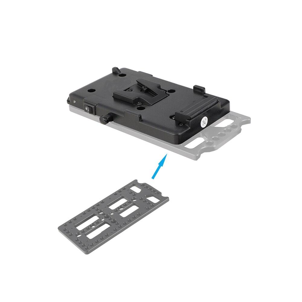 Kayulin adaptador de bateria divisor de energia adaptador com liberação rápida fêmea v montagem de bloqueio para câmera dslr luz de vídeo e monitor - 4