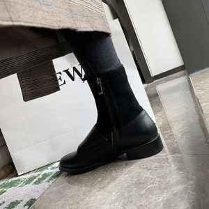 Image 5 - Krazingหม้อ 2019 วัวหนังรอบToeรองเท้าส้นสูงรองเท้าเชลซีบนรันเวย์หัวเข็มขัดhandmadeยืดข้อเท้าl58