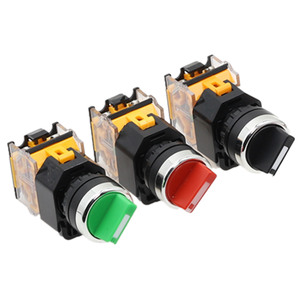 22mm Self-lock Selector Switch 1NO1NC 2/3 Positions Rotary Switches DPST 4 screws 10A400V Power Switch ON/OFF Red Green Black(China)