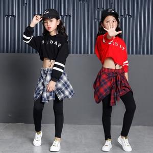 Image 1 - Childrens Sports Suits Cotton Clothing Korean Fashion Hip Hop Streetwear Teenage Girls Hoodies Sweatshirt + Plaid Skirt pants