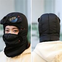 Winter bomber hats plush earflap r