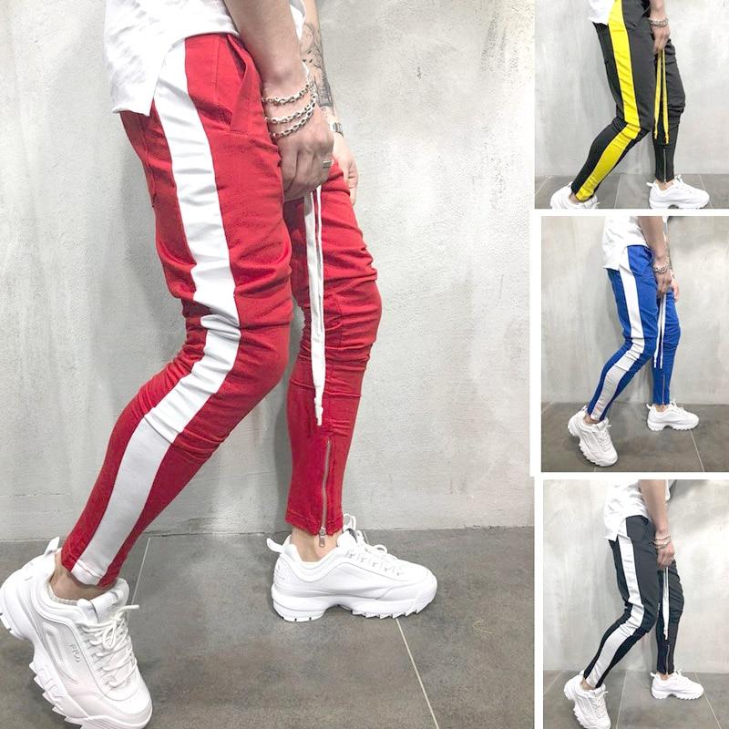 Show details for 2019 Fashion Streetwear Sweatpants Joggers Causal Sportswear Pants Men Black White Men's Hip Hop Sweatpants Trousers For Men