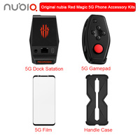 Original ZTE Nubia Red Magic 5G Accessory Kit for RedMagic 5G Include Docking Station Gamepad Handle Protection phone case Film
