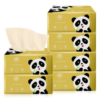 Paper Print Interesting Toilet Paper Table Kitchen Paper Paper Towel Multi-fold Natural Color Pumping Paper 6 Packs Of Cleaning