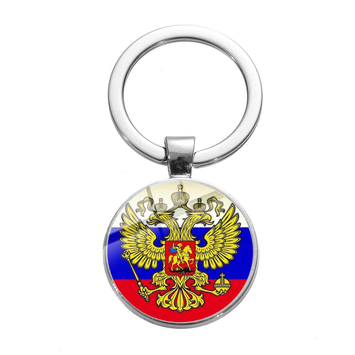 Uni Soviet Soviet Lencana Gantungan Kunci Sabit Hammer Pro Kitty Rusia Lambang Komunisme Simbol Kualitas Tinggi Perak Berlapis Kaca Gantungan Kunci