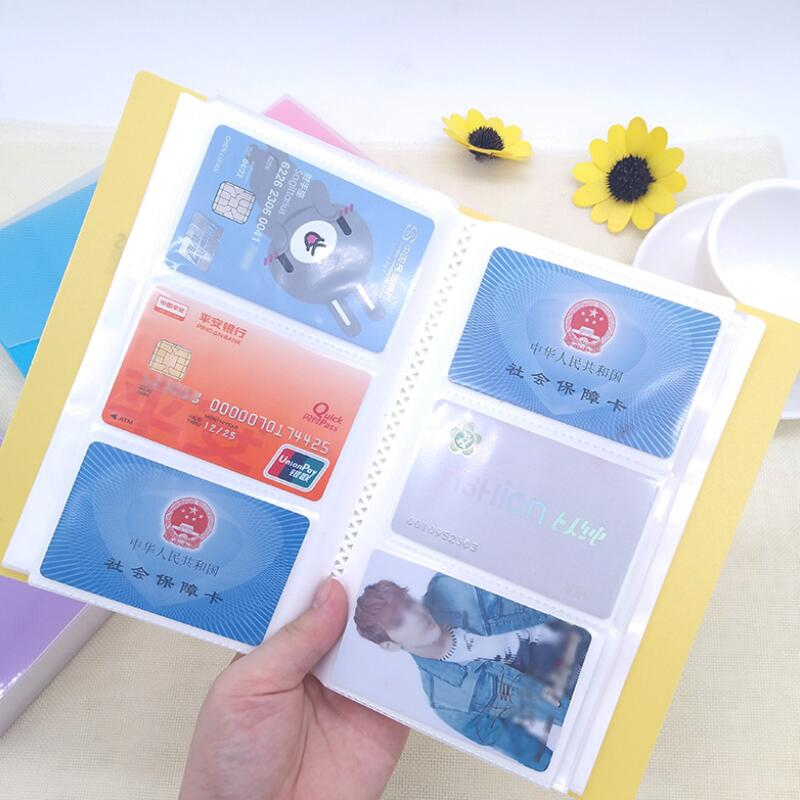 120/240/360 Slots ID Holders Cute Cartoon Card Book Star Large Capacity Business Card Clip Ticket Collection Book Card Stocks