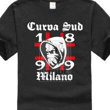Engraçado nova marca presente o-pescoço milan curva sud tifoso ultras rossonero tum0030 3d impresso 100% algodão t camisas