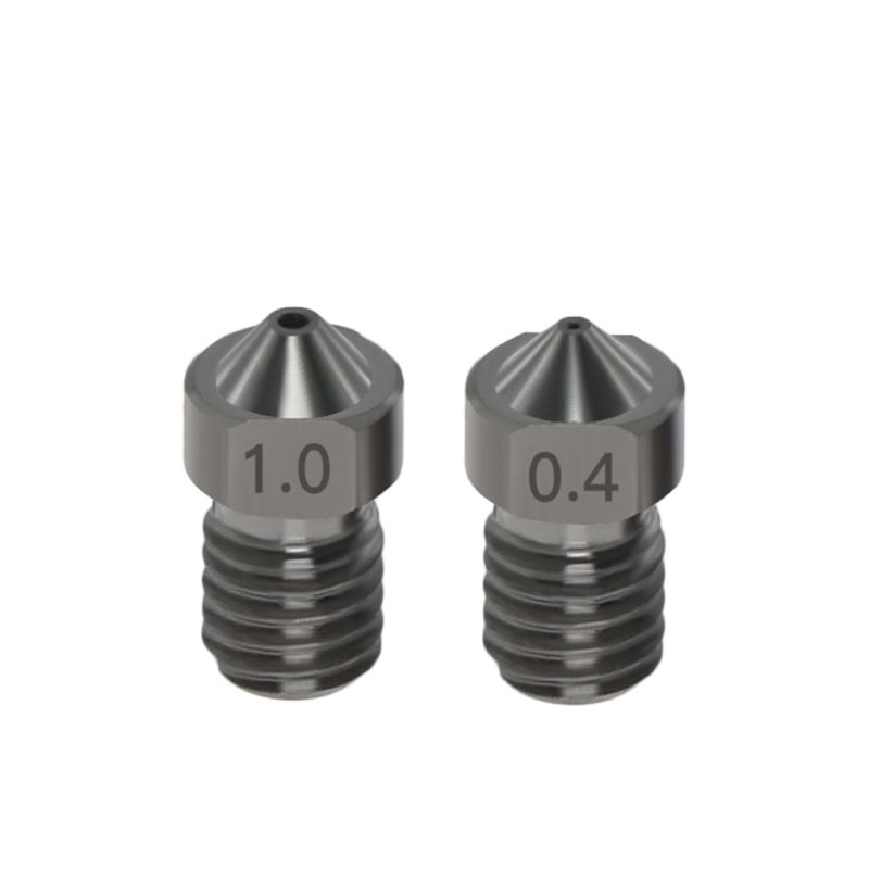 Tigh Quality Hardened Steel V6 Nozzles For High Temperature 3D Printing PEI PEEK Carbon Fiber Filament For E3D Titan Aero Hotend