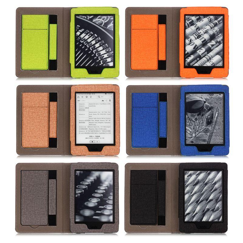 Универсальный защитный чехол 1, 2, 3, 4, чехол для электронной книги 2015, 2017, 2018, Магнитный умный чехол из искусственной кожи для Kindle Paperwhite, чехол|Чехлы для планшетов и электронных книг|   | АлиЭкспресс