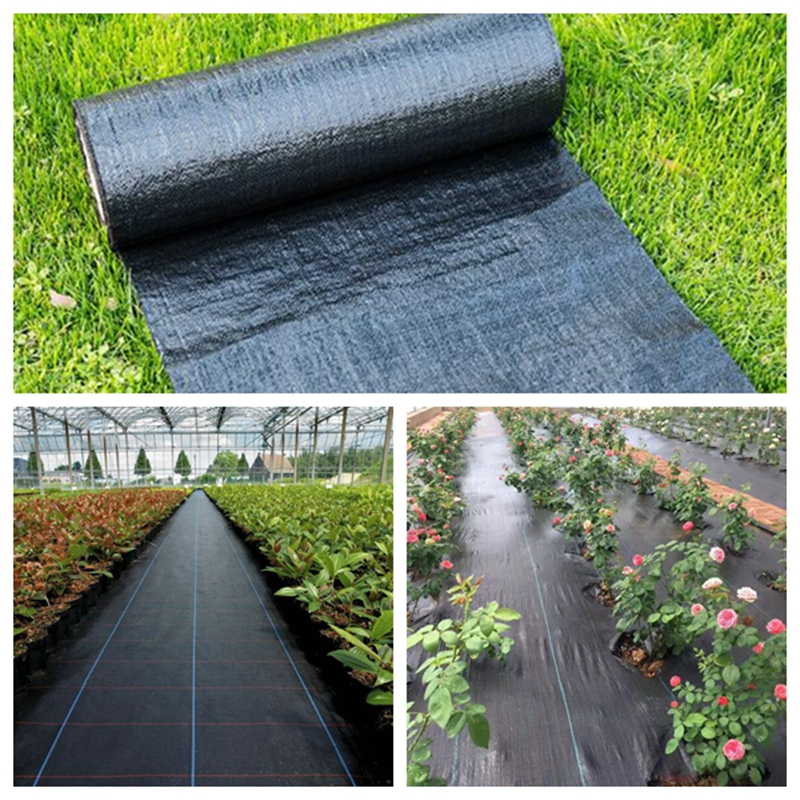1m Agricultural Anti Grass Cloth Black Plastic Mulch Film Thickness Garden Weeding Control Fabric Degradable Weeding Cloth