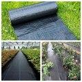1m Landwirtschaft Anti Gras Tuch Schwarz Kunststoff Mulch Film Dicke Garten Jäten Control Stoff Abbaubar Jäten Tuch-in Pflanzenabdeckungen aus Heim und Garten bei