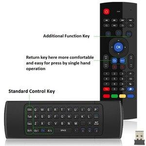 Image 4 - T3M 2,4G Air Maus Drahtlose Tastatur Russische 44 IR Lernen Mic Voice Suche Für Android Smart TV Box PK MX3 t3 Fernbedienung