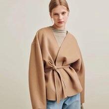 Шерстяное пальто кардиган для женщин cassic элегантный роскошный