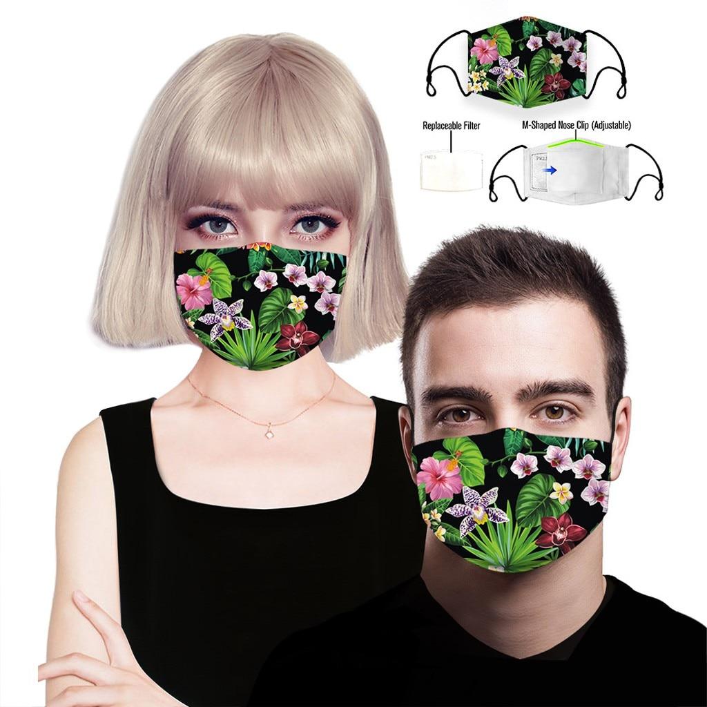 H01781eed22c441d4ba74bfed00335daf9 adult facemask flower print adjustable cotton maske mondkapje maska tapabocas dropshipping