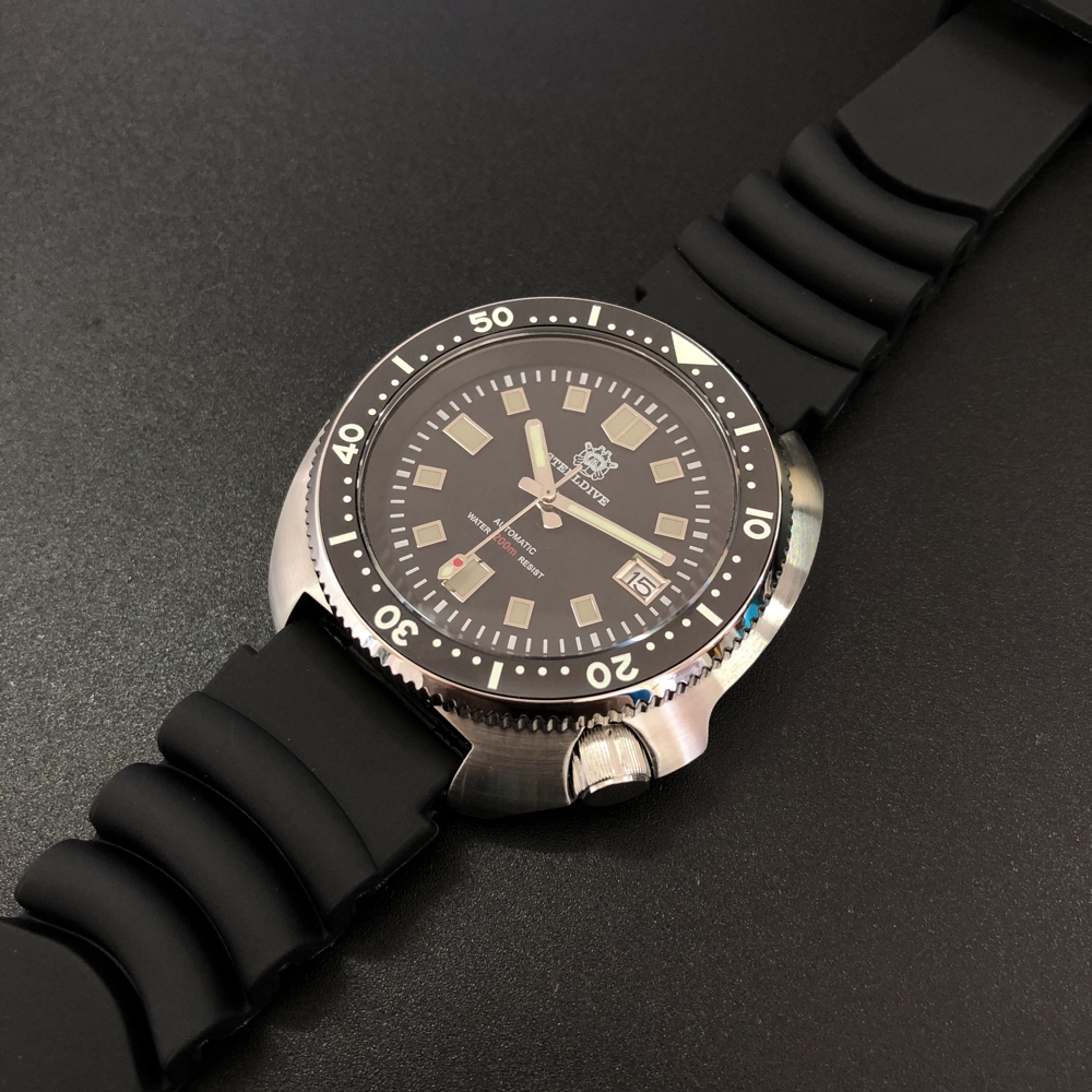 Steeldive 44MM Men Automatic Watch Stainless Steel Dive Watches 200m Water Resistant Sport Watch