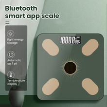 Bathroom Body Floor Scales Bath Scale Digital Body Weight Scale LCD Display Light Energy USB Rechargeable Smart Electronic Scale
