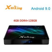 X88 מלך אנדרואיד טלוויזיה תיבת 4GBDDR4 128GB LAN1000M RJ45 2.4G /5G dual band Wifi AmlogicS922X quad core 4K HD 1080P סט