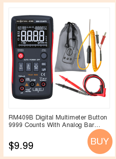 H01786a21738340f2980154d226626c8fN RICHMETERS RM113D NCV Digital Multimeter 6000 counts Auto Ranging AC/DC voltage meter Flash light Back light Large Screen 113A/D