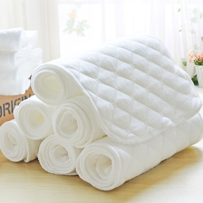 5pcs Baby Nappies Diaper Newborn Toddler Nappies Changing Pad Cotton Mat Washable Insert 3 Layers Cotton Baby care   Happy Baby Mama
