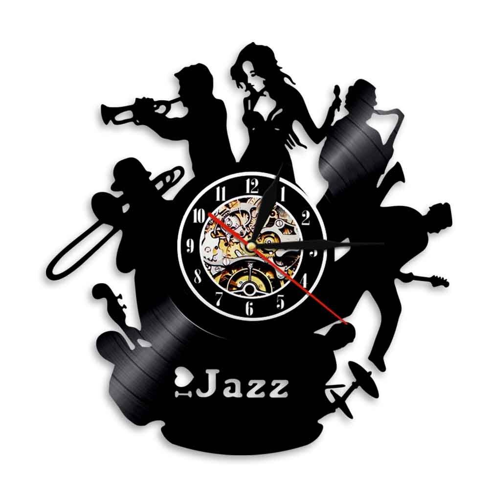 Wanduhr Jazzband Sängerin