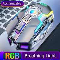A5 Gaming Maus 2,4 Ghz Wireless USB Professional Esports RGB Backlit Slient Bluetooth Maus 1600DPI 7 Tasten für PC notebook