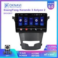 OKNAVI For Ssangyong Korando 3 Actyon 2 2013 2014 2015 2016 2017 Android 9.0 Car Multimedia GPS Navigation Radio 4G WIFI Player