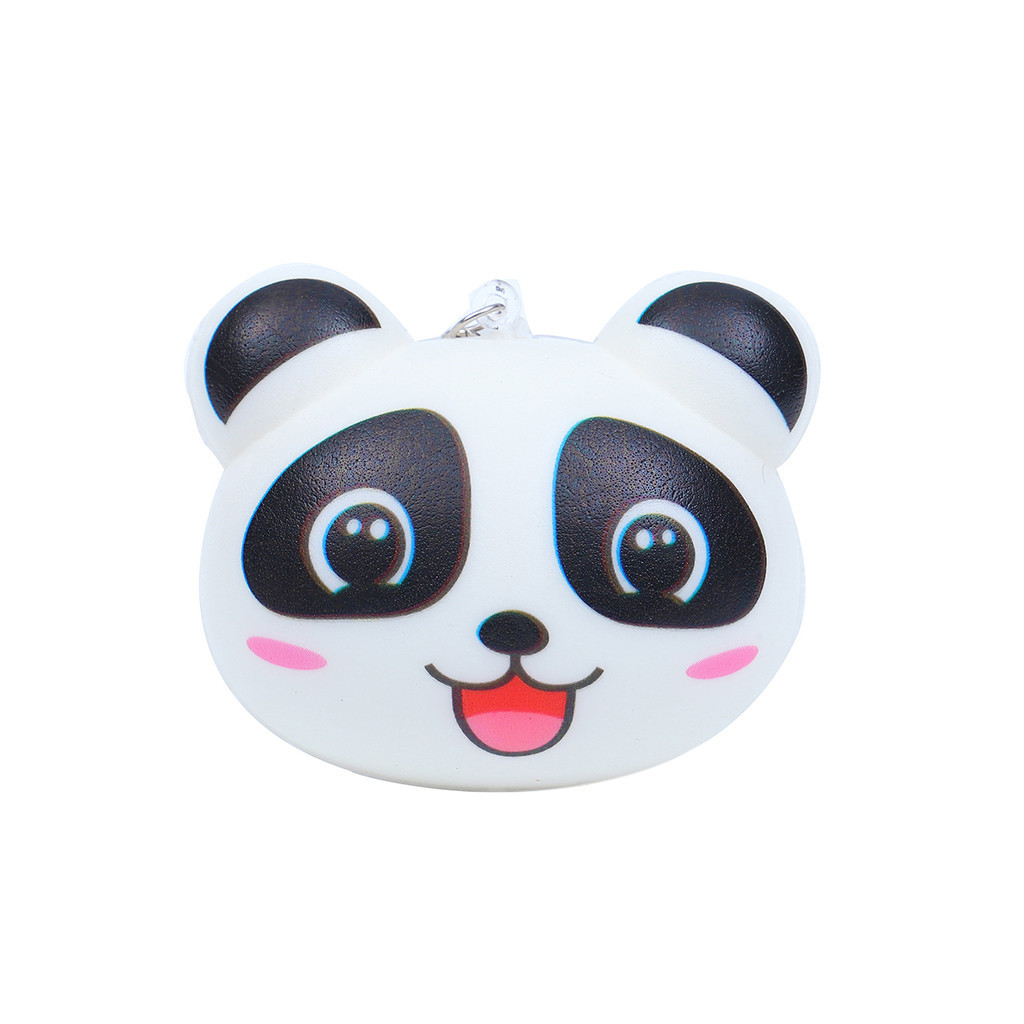 Mini Adorable Bear Slow Rising Kids Fun Toy Stress Reliever Gift Backpack Accessories Decorations Lanyard Keychain Gadgets #A