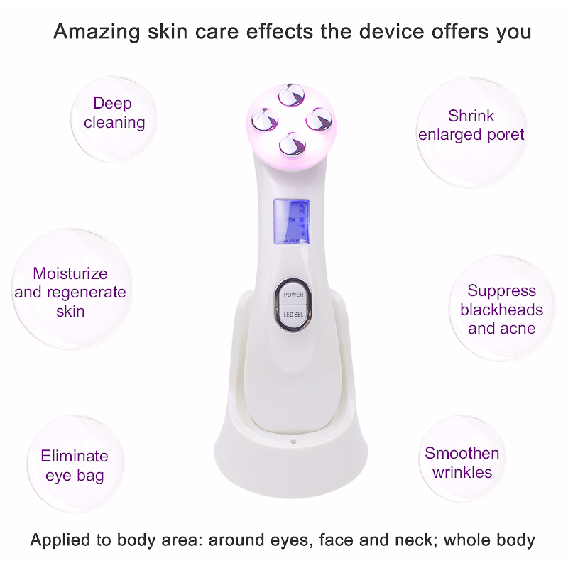 Image 5 - Licheng5in1 RF EMS mesoterapia Pen Face Skin Rejuvenation Remover Wrinkle Radio Mesotherapy Electroporation Face Radio Frequency-in Face Skin Care Tools from Beauty & Health