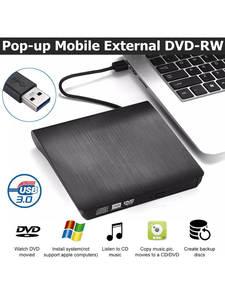 CD Writer Reader-Player Drive Burner Laptop External Dvd Usb-3.0/type-C Slim RW for PC