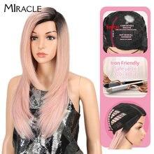 Чудесный длинный парик Боб для женщин синтетические волосы боковая