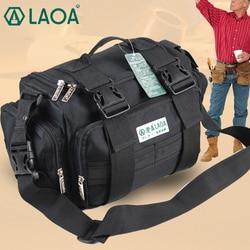 LAOA Multifunktions Werkzeug Tasche Große Kapazität Professionelle Reparatur Werkzeuge Tasche Messenger Tasche