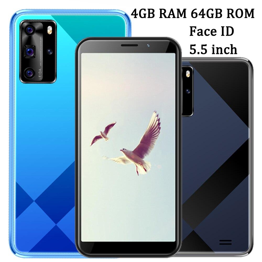 Face ID Y9 4 ядра 4G Оперативная память 64G Встроенная память 5,5 дюймов 5MP + 13MP смартфоны мобильные телефоны открытые спереди/сзади Камера Wi-глобальн...