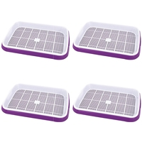 4 Pcs Double Layer Seed Germination Seedling Tray Hydroponic Basket Flower Plant Sprouting Tray Box|Growing Tents| |  -