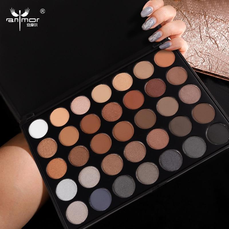 35 cores paleta de sombra matte maquiagem 04