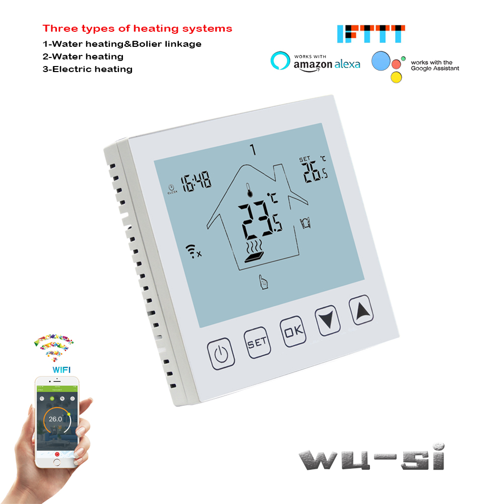 3A Water Heating System With WIFI Thermostat, Temperature 0.5 °C Precision Display