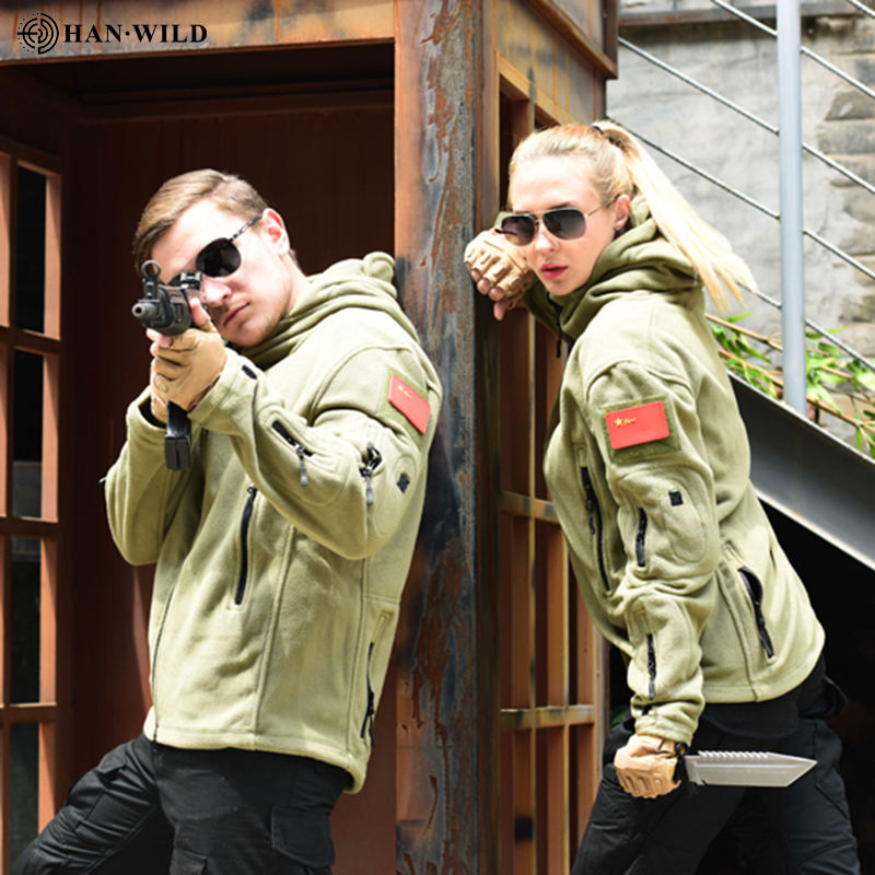 Military Fleece Tactical Jacket Men Thermal Outdoor Polartec Warm Hooded Coat Militar Softshell Hiking Outerwear Army Jackets