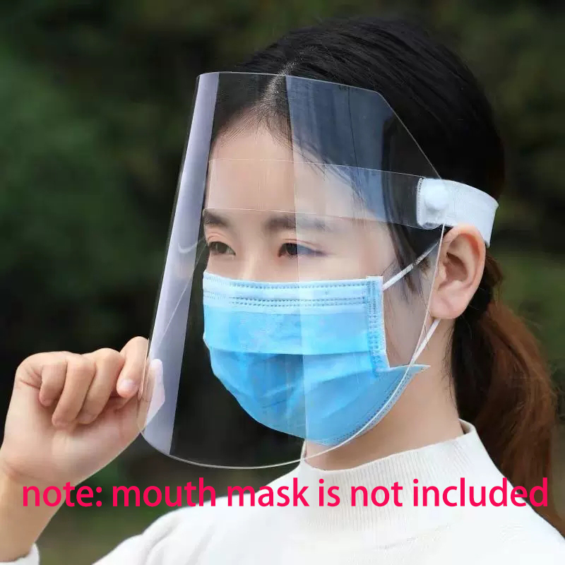 3/5 Pcs New Face Mask Cover Plastic Face Mask Protect Anti Doplet Full Face Mouth Prevent Tool Anti Cough Spread Health Protect