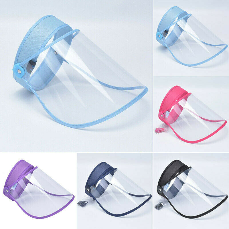 1pc Safety Full Face Shield Mask Clear Flip Up Visor Protection Work Guards Rose Red/Purple/Blue/Navy/Black Color