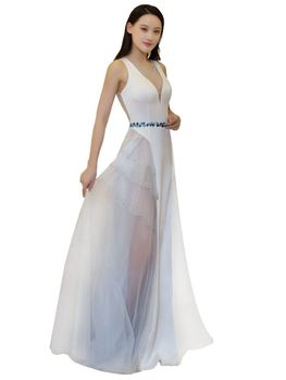2020 FENTEFEN Plus Size Evening Dresses O Neck Car models Anchor Costumes Clubhouse Host dress Soiree Sexy Dress BX-0097