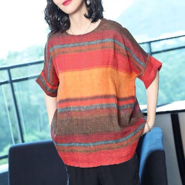 casual elegance, striped top drop sleeve  3