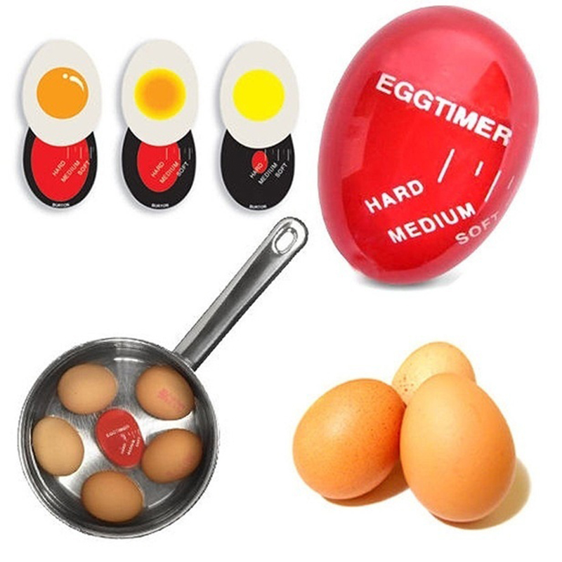 Egg Perfect Color Changing Timer Yummy Soft Hard Boiled Eggs Cooking Kitchen Eco-Friendly Resin Red Eggs tools