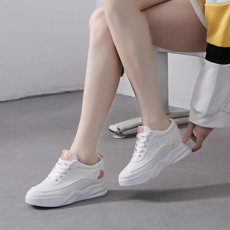 Platform Wedges Shoes for Women White