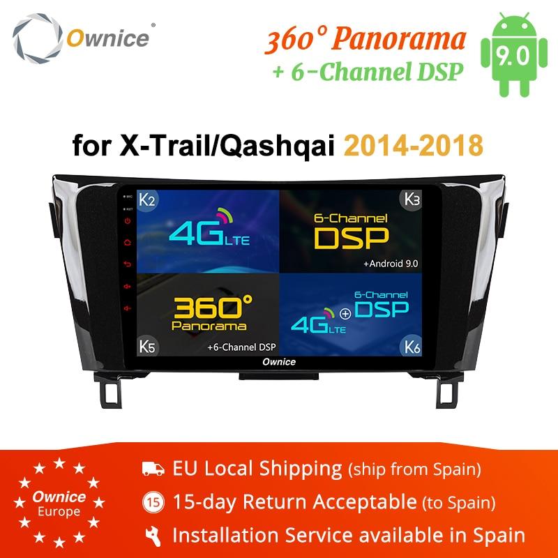 "Ownice K3 K5 K6 2Din 10.1 ""lecteur Radio DVD de voiture Android 9.0 compatible Nissan qashqai x-trail 2014-2018 Navigation GPS Octa Core SPDIF"