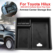 Tray Armrest Center Storage Box For Toyota Hilux 2004-2014 Interior Accessories Car-styling car Armrest Center Storage Boxes